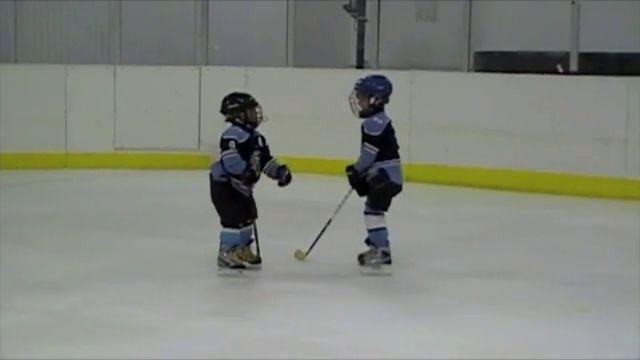 Mite Hockey Fight